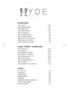 hyde-beach-miami-bottle-service-menu